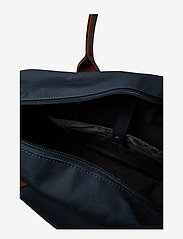 SANDQVIST - EMIL - laptoptassen - navy with cognac brown leather - 4