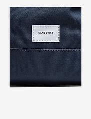 SANDQVIST - BERNT - ryggsäckar - navy with natural leather - 6
