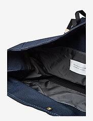 SANDQVIST - BERNT - ryggsäckar - navy with natural leather - 4