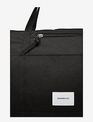 SANDQVIST - MILTON - treenikassit - black with black leather - 5