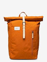 SANDQVIST - DANTE - tassen - burnt orange with natutal leather - 0