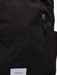 SANDQVIST - KNUT - tassen - black with black webbing - 4