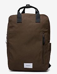 SANDQVIST - KNUT - sacs a dos - olive with navy webbing - 1