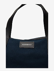 SANDQVIST - HOLLY - weekend and gym bags - blue with black leather - 5