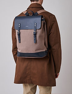 HEGE - plecaki - earth brown with navy leather
