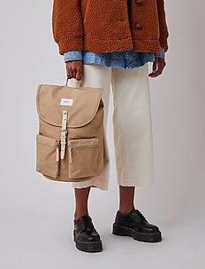ROALD - plecaki - beige with natural leather