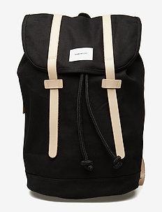 STIG LARGE - backpacks - black w/ natural leather
