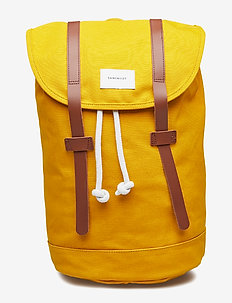 STIG - YELLOW WITH COGNAC BROWN LEATHER