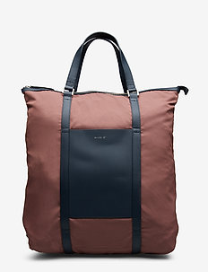 MARTA - MAROON WITH NAVY LEATHER