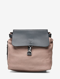VILDA W/ DOG HOOK - backpacks - earth brown with navy leather