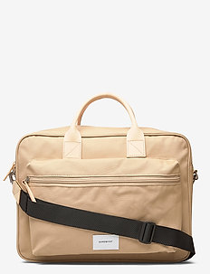 EMIL - laptoptassen - beige with natural leather