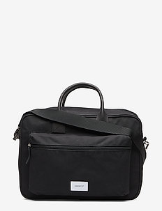 EMIL - laptoptassen - black with black leather