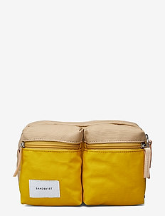 PAUL - MULTI YELLOW / BEIGE WITH NATURAL LEATHER