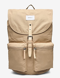 ROALD - rugzakken - beige with natural leather