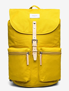 ROALD - rugzakken - yellow with natural leather