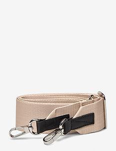 ADJUSTABLE SHOULDER STRAP - bag straps - beige with black leather