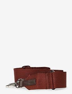 ADJUSTABLE SHOULDER STRAP - bag straps - red / brown melange with dark brown leather