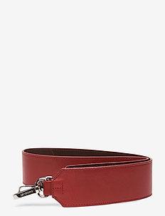 SHOULDER STRAP LEATHER - bag straps - red / dark brown