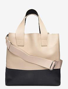 IRIS - shoppers - beige / navy