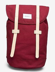 STIG - tassen - burgundy with natural leather