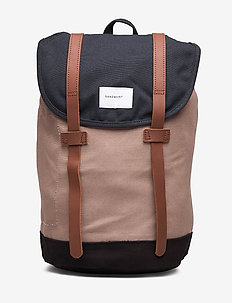 STIG - MULTI NAVY / EARTH BROWN / BLACK WITH COGNAC BROWN LEATHER