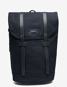 STIG - rugzakken - navy with navy leather
