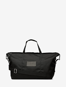 MILTON - torby weekendowe - black with black leather