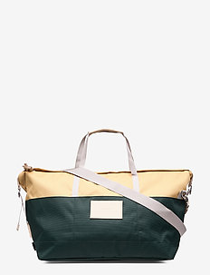 MILTON - MULTI HONEY YELLOW / DARK GREEN  WITH NATURAL LEATHER