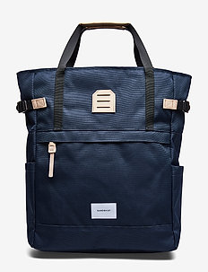 ROGER - NAVY WITH NATURAL LEATHER