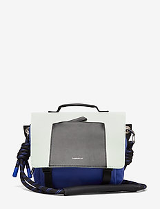 SOLVEIG - weekend- og treningsbagger - multi color blue/green/black leather