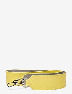 SHOULDER STRAP LEATHER - bag straps - lemon / stone grey