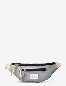 ASTE - heuptassen - grey with natural leather