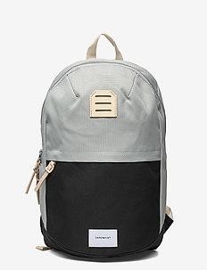 GLENN - rucksäcke - multi grey/black with natural leather