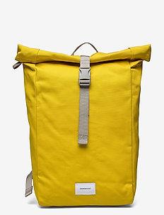 KAJ - tassen - yellow with grey webbing