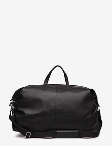 DAMIEN LEATHER - torby weekendowe - black