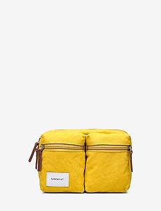 PAUL - vyölaukut - yellow with cognac brown leather
