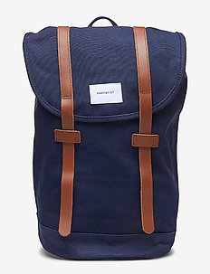 STIG - BLUE WITH COGNAC BROWN LEATHER