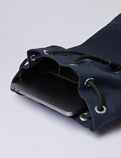 Sandqvist Stig- Rucksäcke Navy With Leather