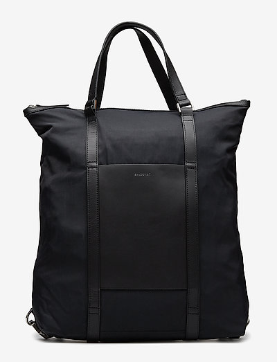 MARTA - tassen - black with black leather