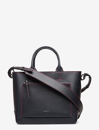 LEA - bags - navy with red stitches