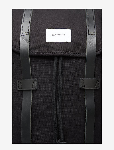 Sandqvist Stig- Torby Black With Leather
