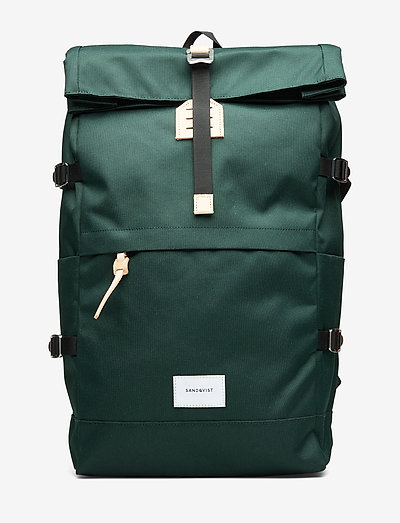 BERNT - new arrivals - dark green with natural leather