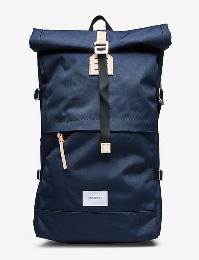 BERNT - new arrivals - navy with natural leather