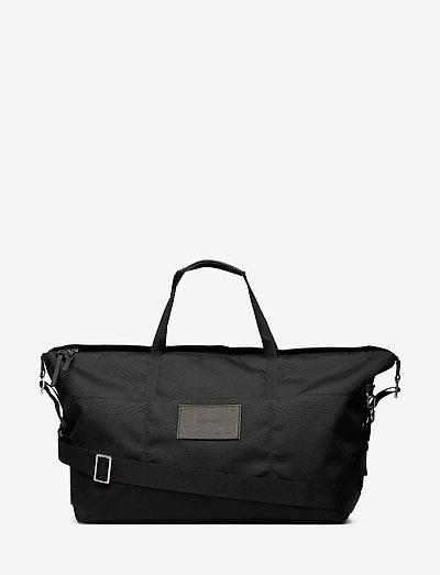 MILTON - torby weekendowe - black with black leather