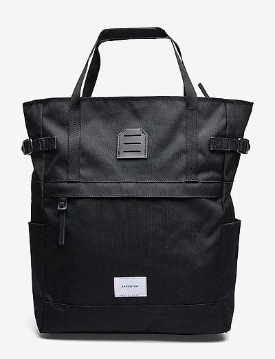 ROGER - plecaki - black with black leather
