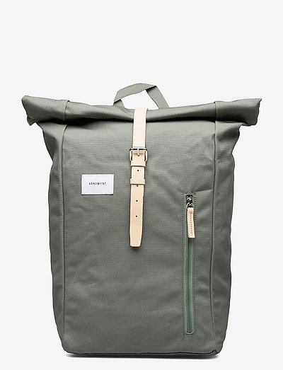 DANTE - reput - dusty green with natural leather