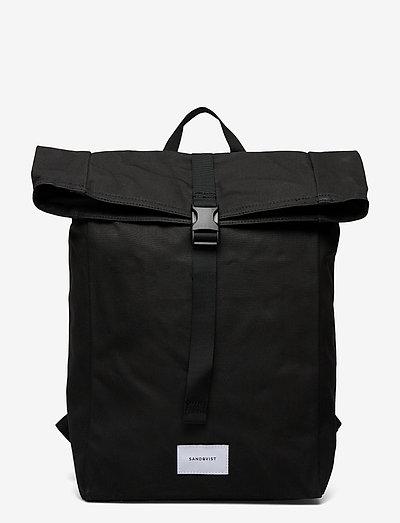 KAJ - tassen - black with black webbing