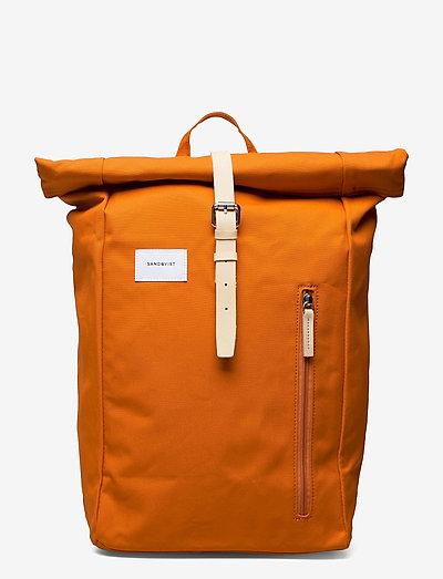 DANTE - väskor - burnt orange with natutal leather