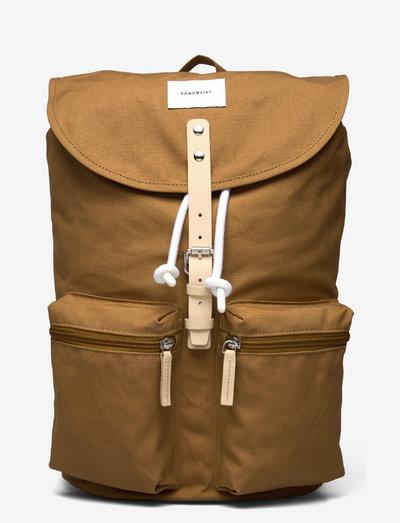 ROALD - plecaki - bronze with natural leather
