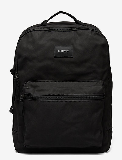 AUGUST - torby - black with black webbing